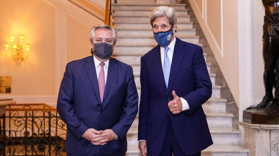 Alberto Fernández se reunió con John Kerry