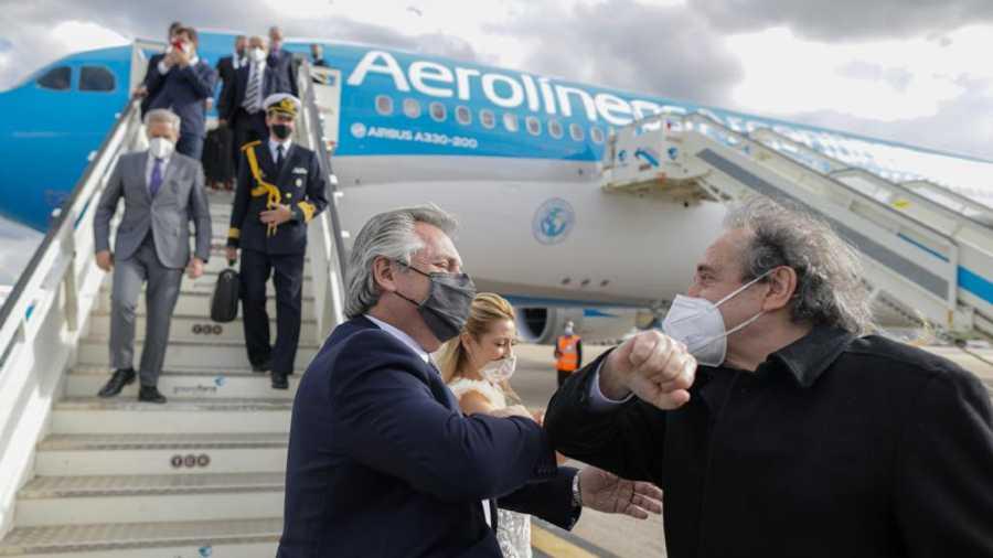 Alberto Fernández ya se encuentra en Madrid
