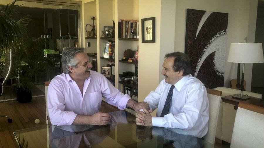 Alberto Fernández se reunió con Ricardo Alfonsín